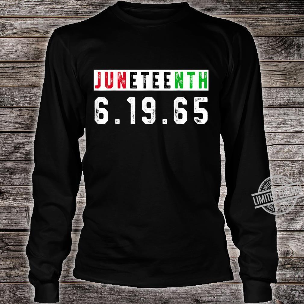 Juneteenth Afro Flag Pro Black African American Flag Pride Shirt long sleeved