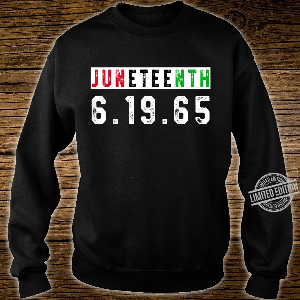 Juneteenth Afro Flag Pro Black African American Flag Pride Shirt sweater