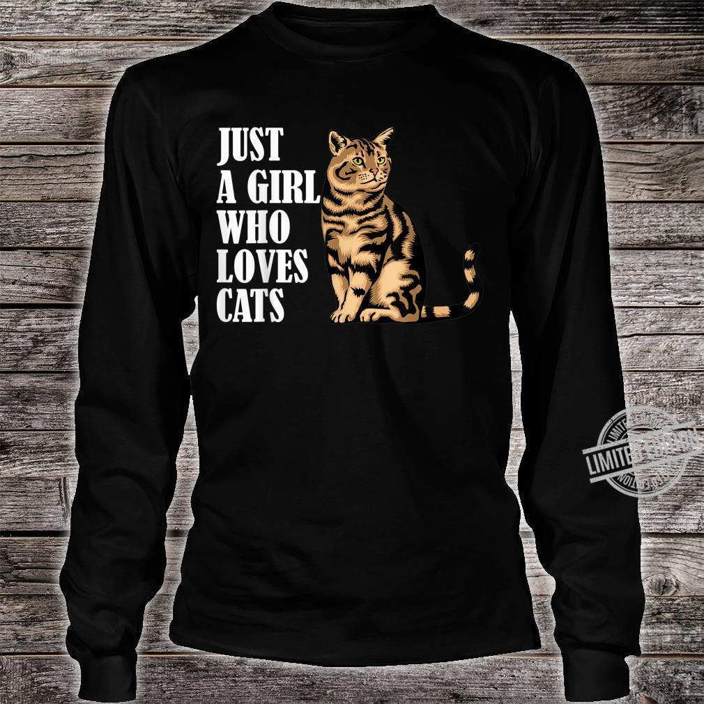 Just A Girl Who Loves Cats Shirt long sleeved