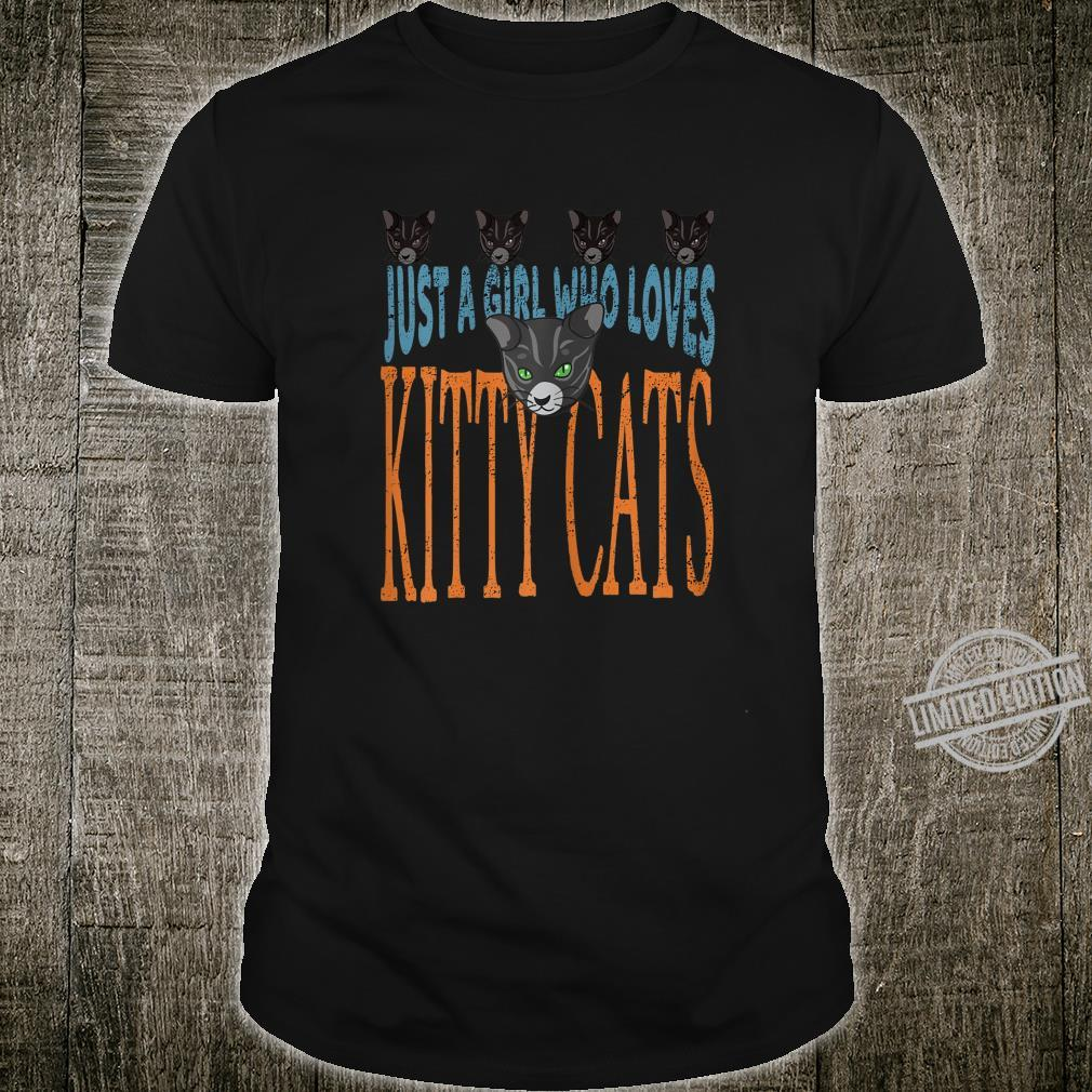 Just A Girl Who Loves Kitty Cats Cat Shirt