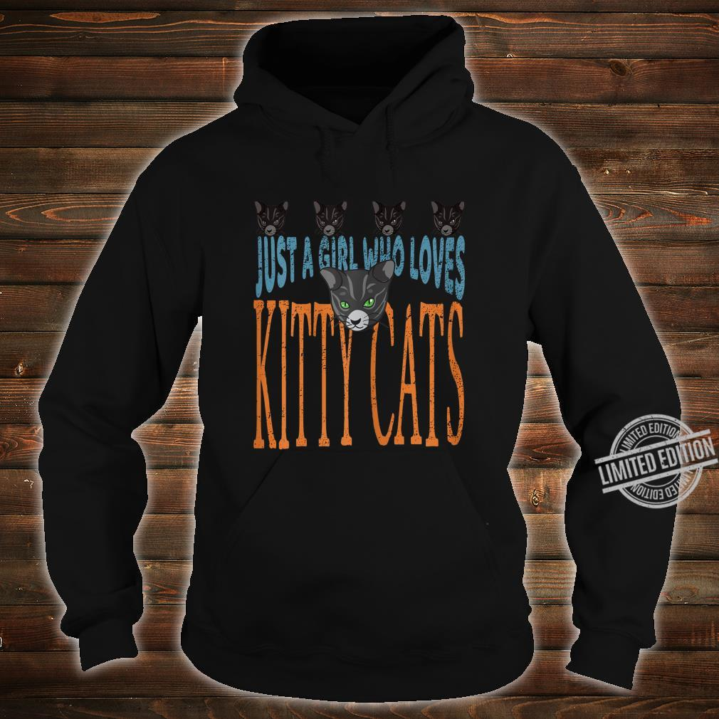 Just A Girl Who Loves Kitty Cats Cat Shirt hoodie