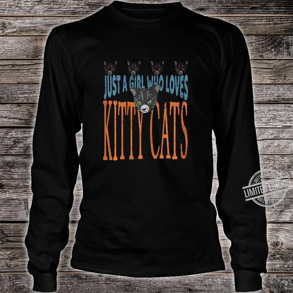 Just A Girl Who Loves Kitty Cats Cat Shirt long sleeved