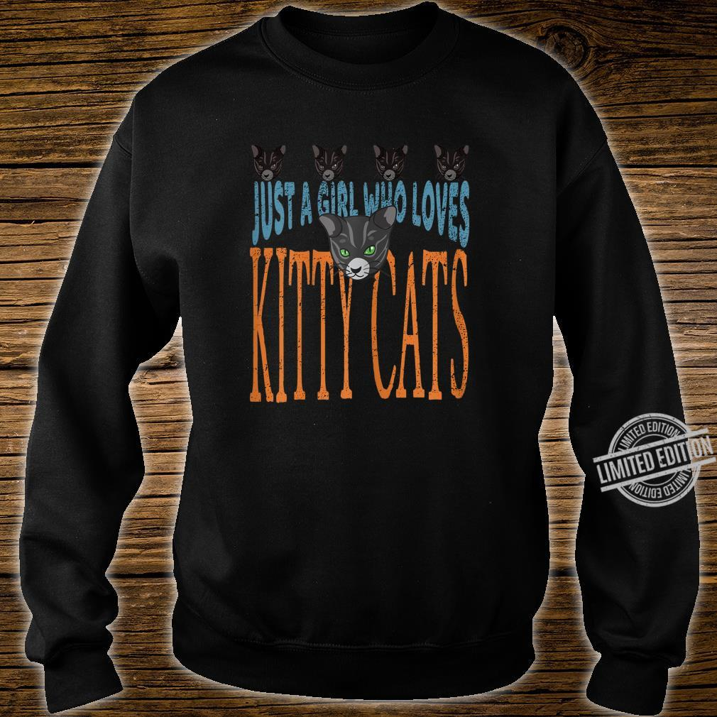 Just A Girl Who Loves Kitty Cats Cat Shirt sweater