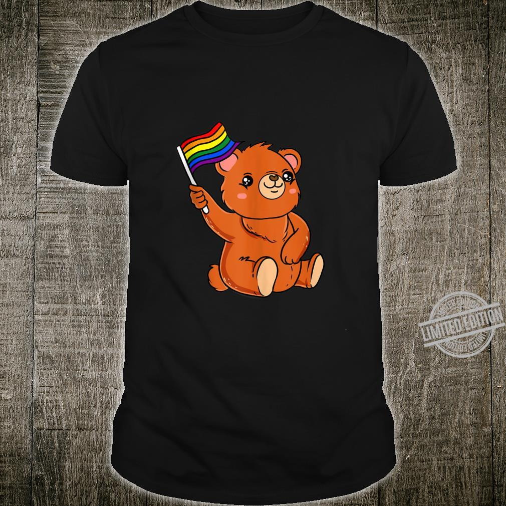 Kawaii Anime Bear With Rainbow Flag Shirt