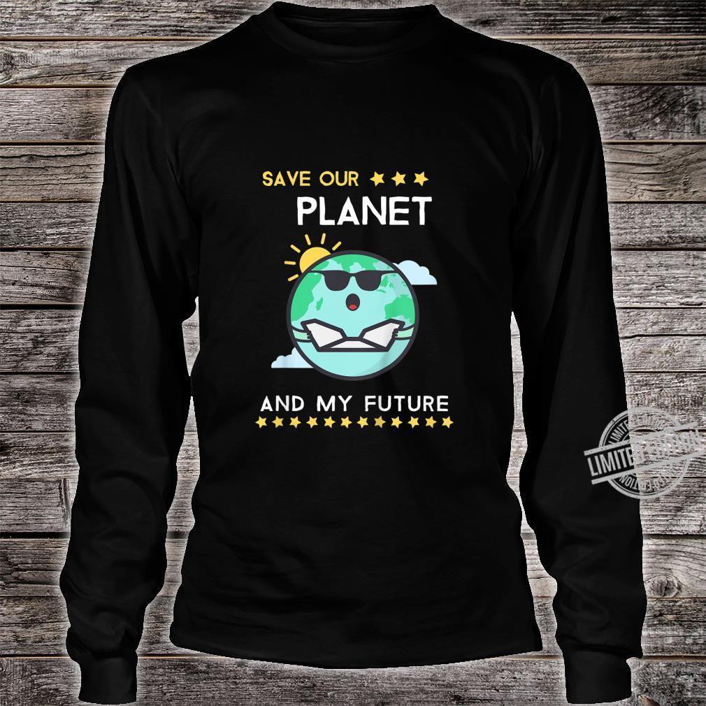 Kids Earth Day 2020 Climate Change Activism Shirt long sleeved