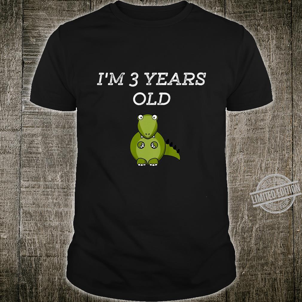 Kids dinosaur 3rd Birthday Boy or girl 3 Year Old Shirt