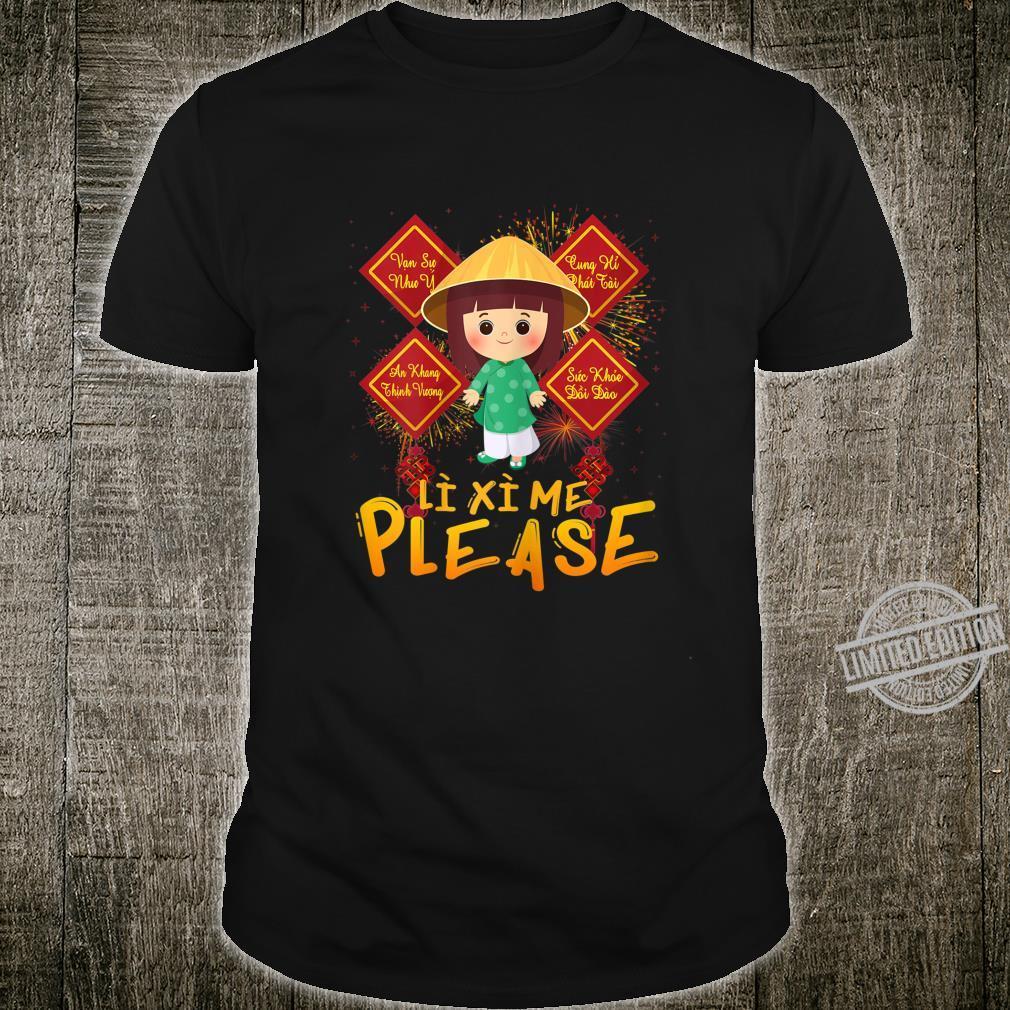 Li Xi Me Please For Boy Wish Vietnamese Kid Lunar New Year Shirt