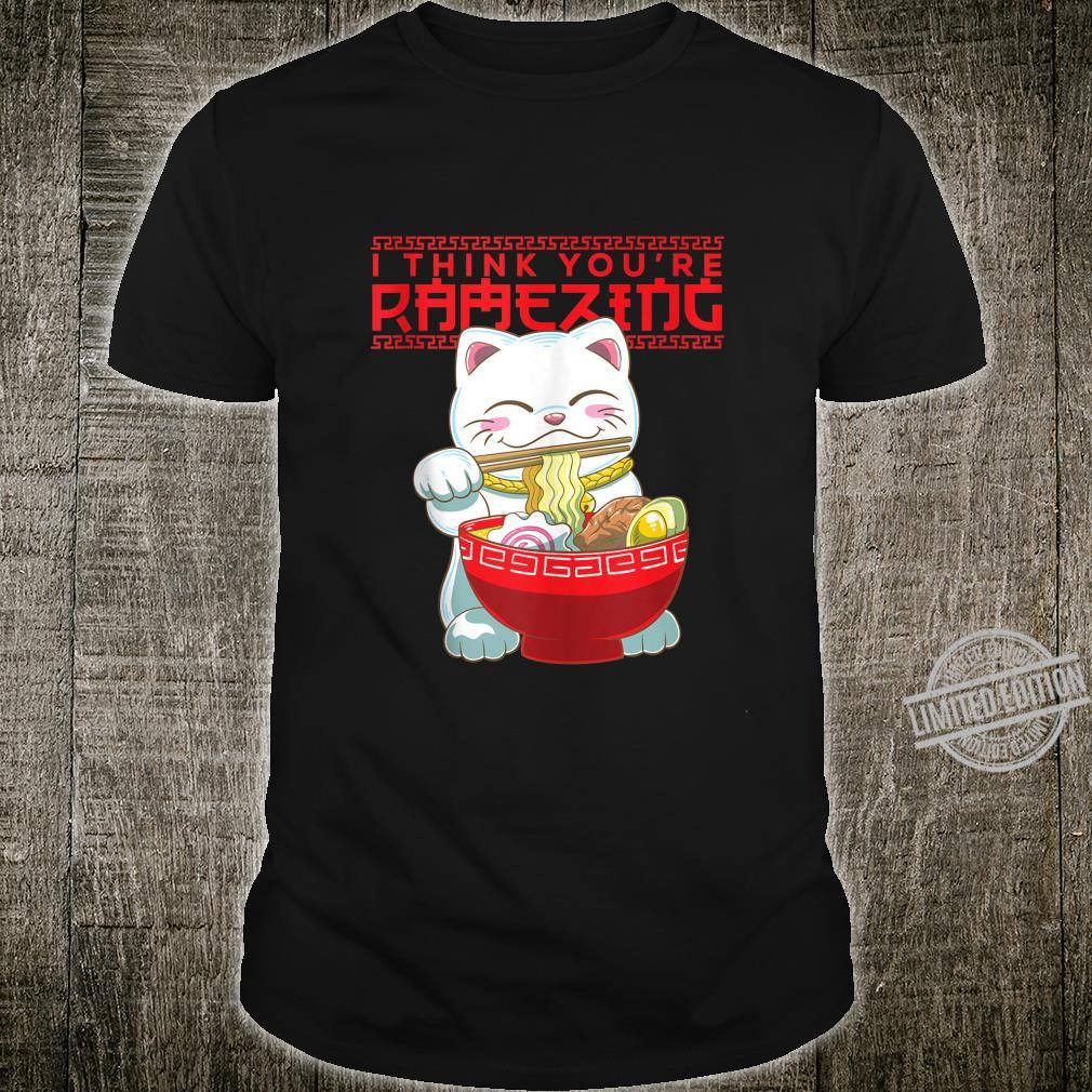 Lucky Cat Maneki Neko Ramen Valentines Day Shirt