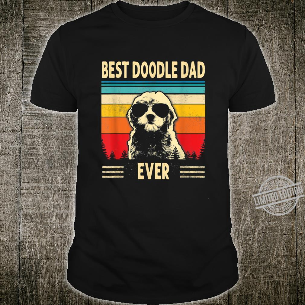Mens Best Doodle Dad Ever Father's Day Goldendoodle Dad Shirt