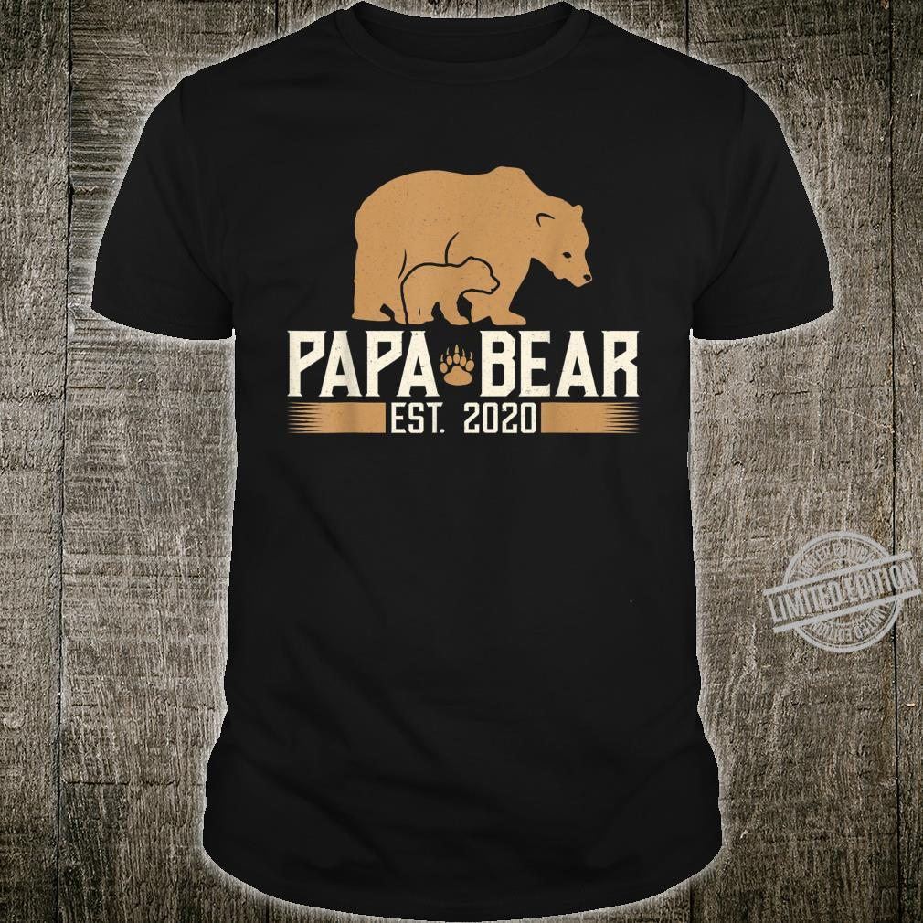 Mens Papa Bear Est. 2020 Daddy Father To Be Shirt