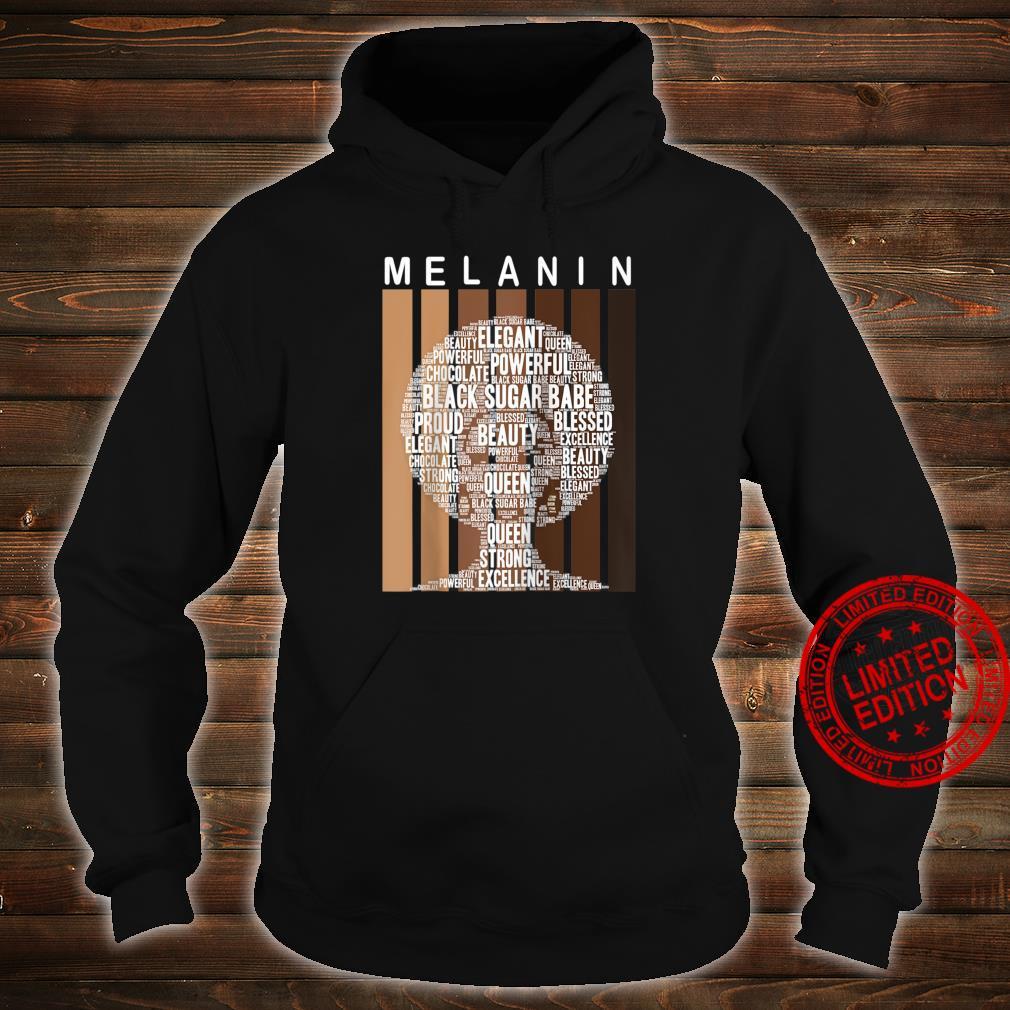 Oheneba Melanin Shades Afro Queen Wordart Shirt hoodie