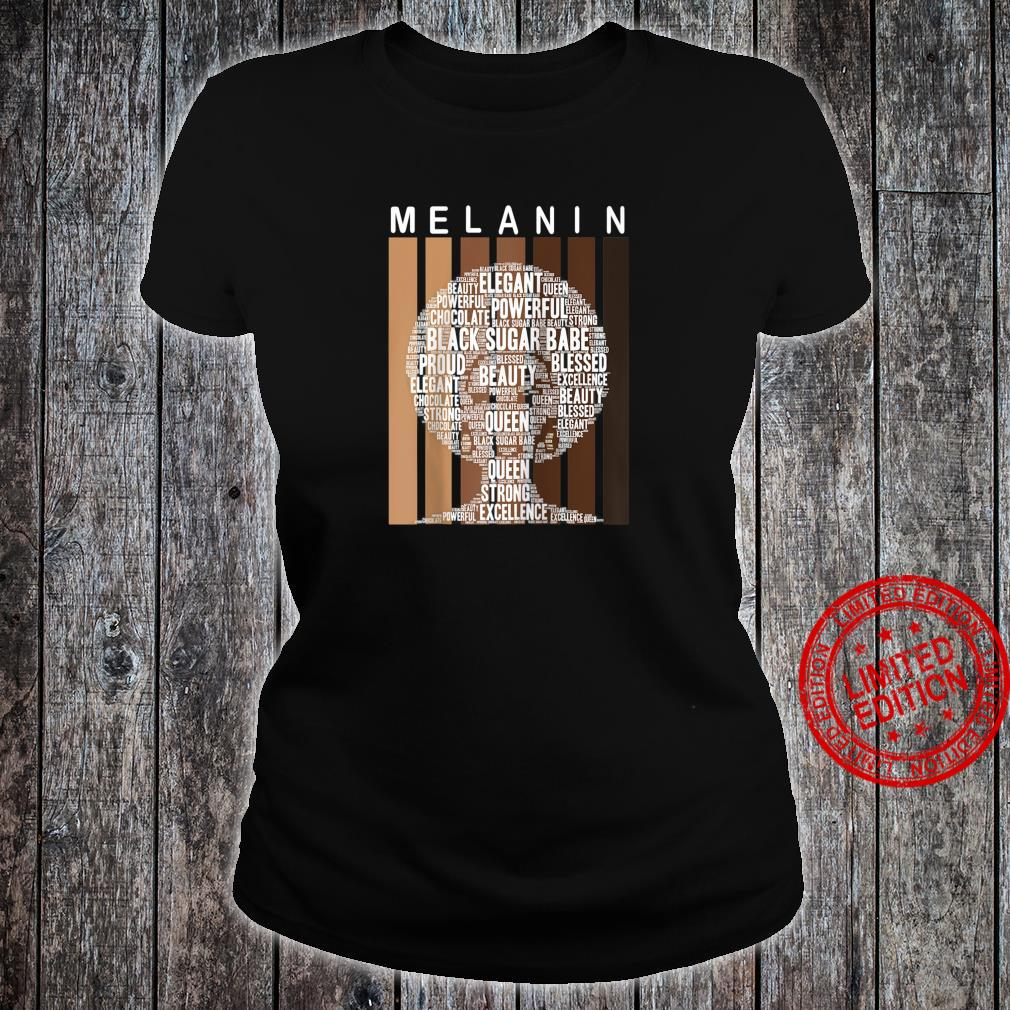 Oheneba Melanin Shades Afro Queen Wordart Shirt ladies tee