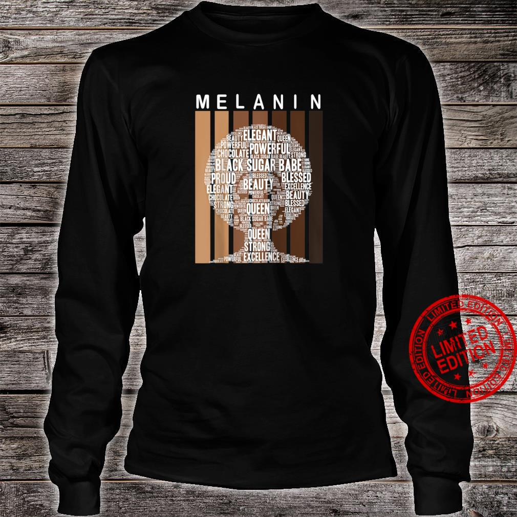 Oheneba Melanin Shades Afro Queen Wordart Shirt long sleeved