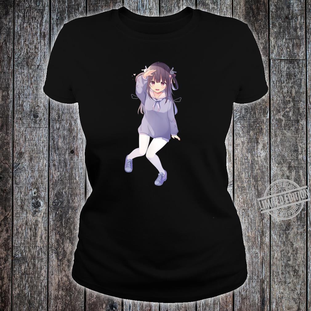 Pastel Kawaii Anime Girl Shirt Cute Chibi Anime Girl Shirt ladies tee