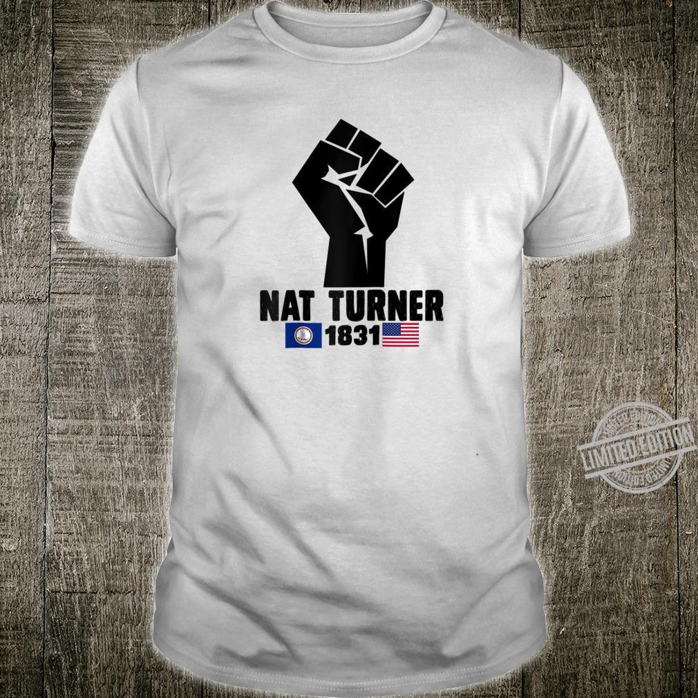 Retro American Flag Nat Turner Black History Shirt