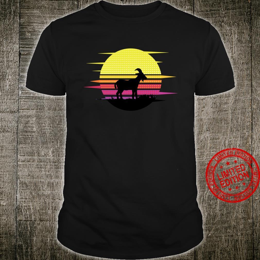 Retro Goat Sunset Goat Barn Animal Farmer Pet Shirt