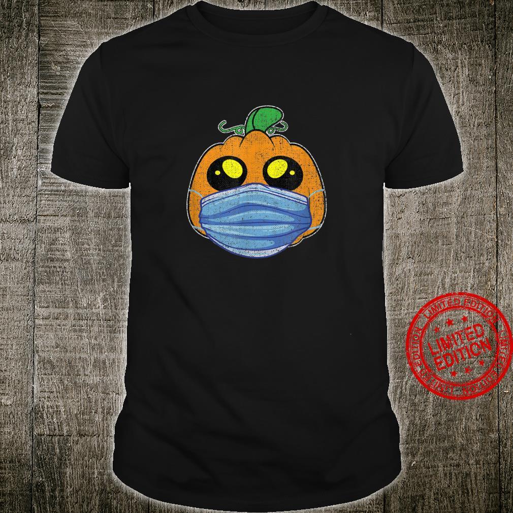 Retro Halloween Pumpkin Face Mask Social Distance Shirt