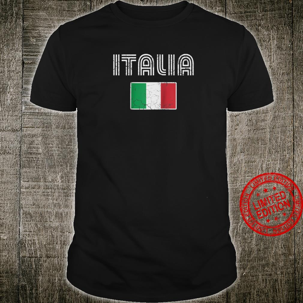 Retro Italia Flag Italy Italian Italiano Love Family Home Shirt