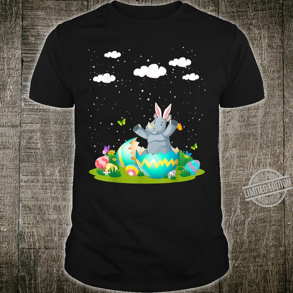 Rhino Pet Hatched Hatching From Easter Egg Easter Day Shirt