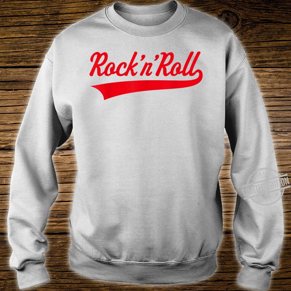 Rock 'n' Roll Rock And Roll Rock & Roll Red Shirt sweater