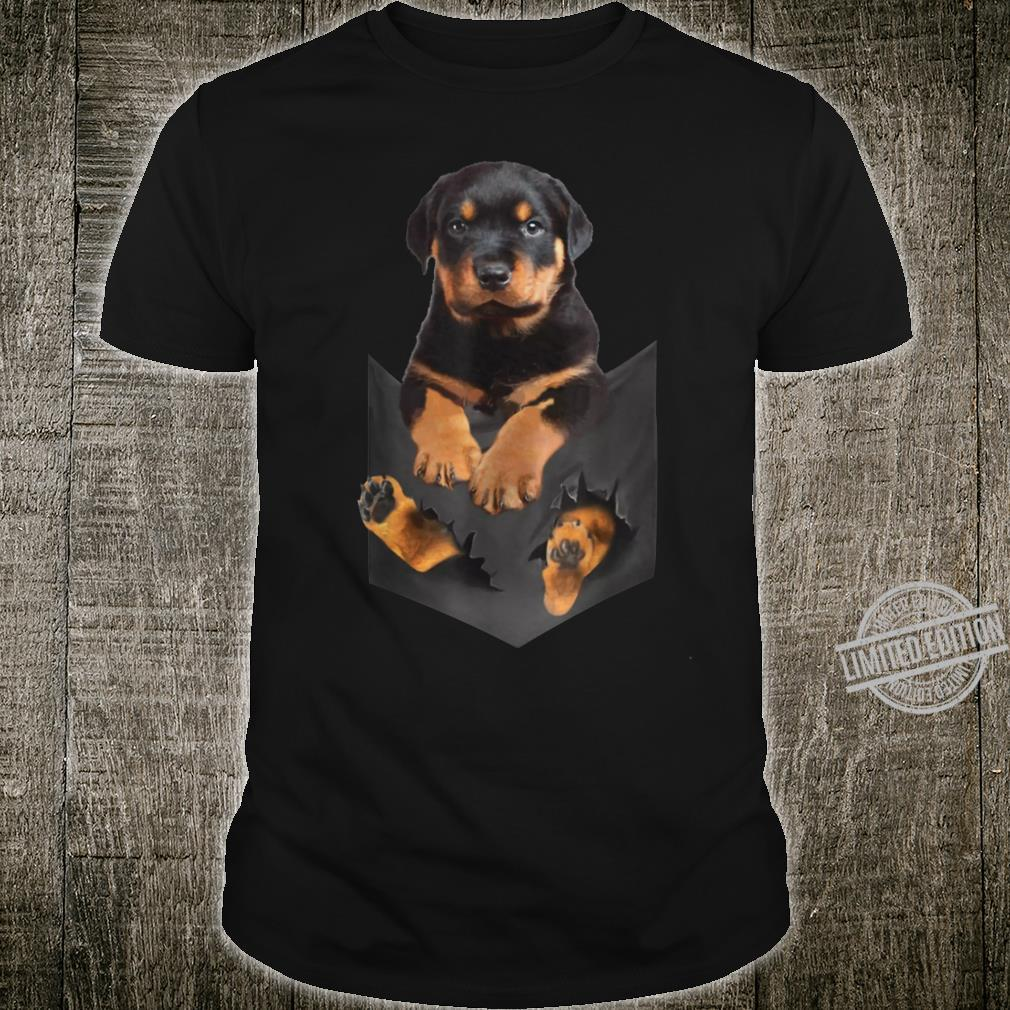 Rottweiler Puppy Cute in Pocket Dog Mother's Day Shirt