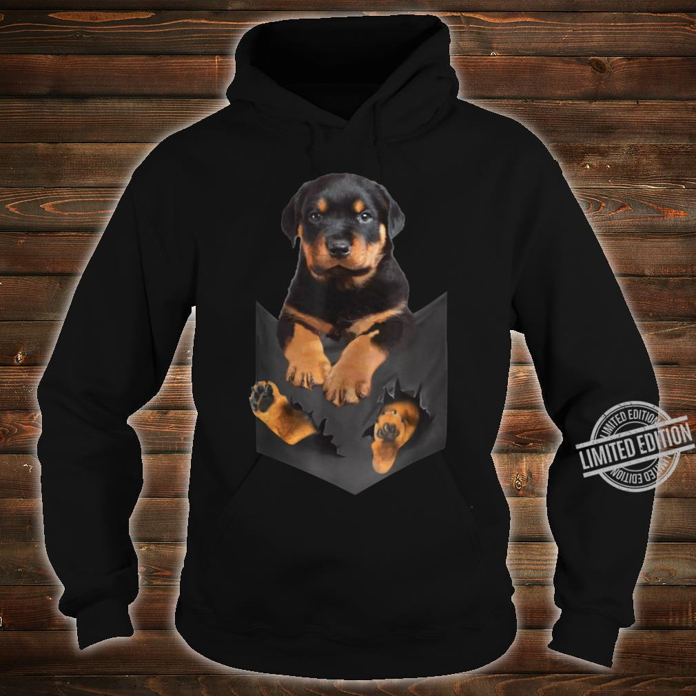 Rottweiler Puppy Cute in Pocket Dog Mother's Day Shirt hoodie