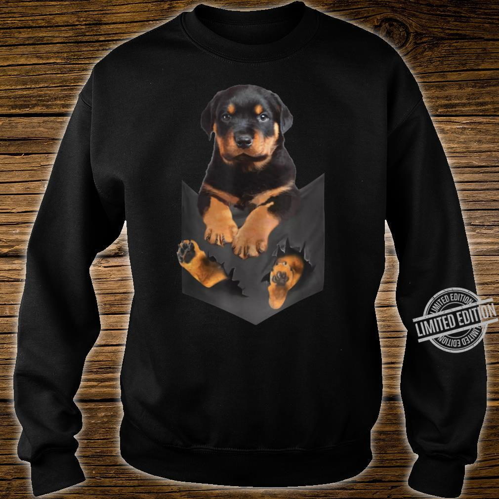Rottweiler Puppy Cute in Pocket Dog Mother's Day Shirt sweater