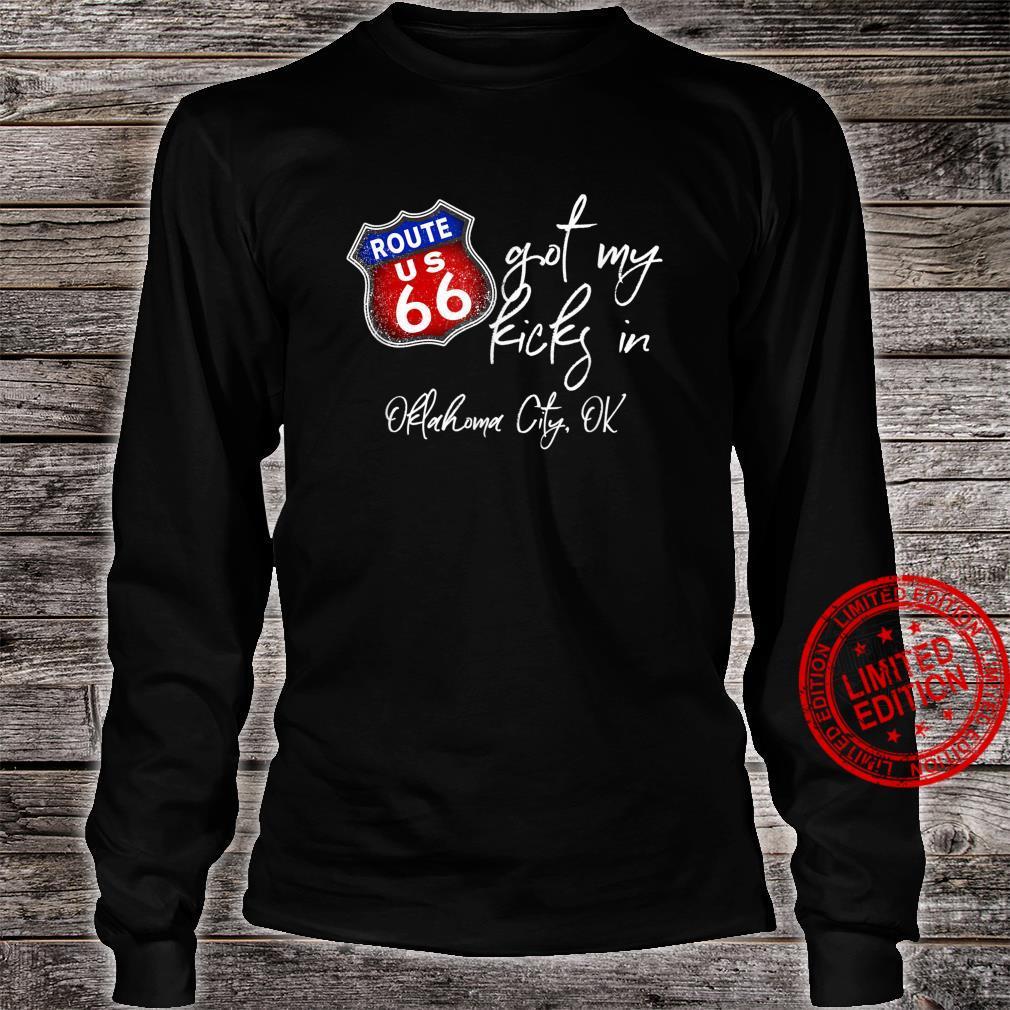 Route 66 Got My Kicks In Oklahoma City OK Souvenir Shirt long sleeved