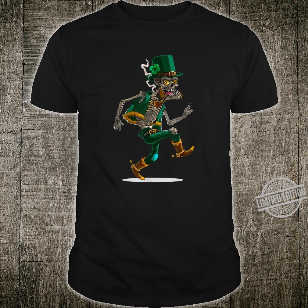 Saint Patricks Day Skeleton With Shamrock Hat St. Patricks Shirt