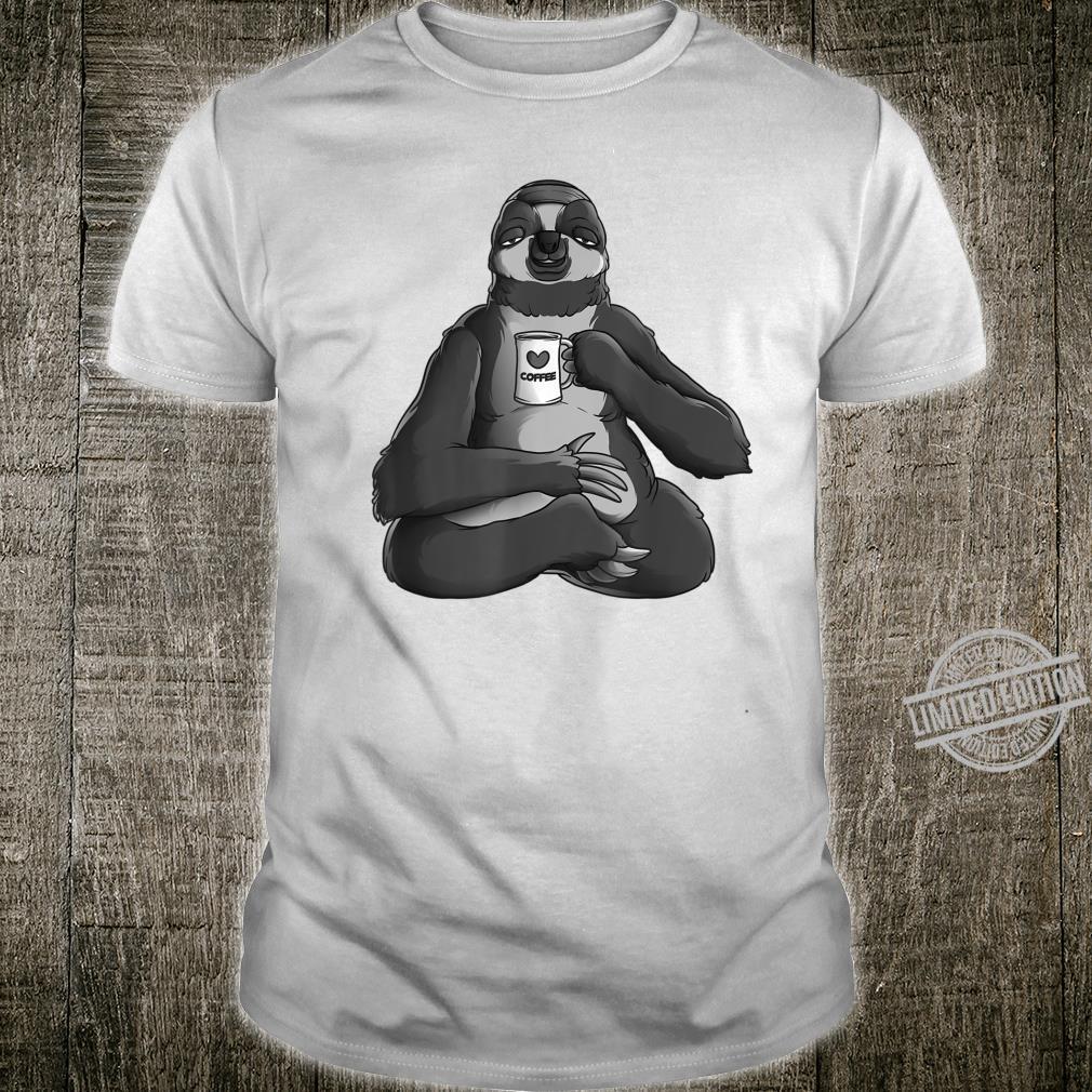 Sloth Yoga Coffee Cute Cappuccino Fans Exercise Shirt