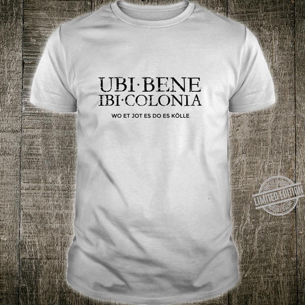 Ubi Bene Ibi Colonia VintageSchwarz Kölsch Köln Langarmshirt Shirt