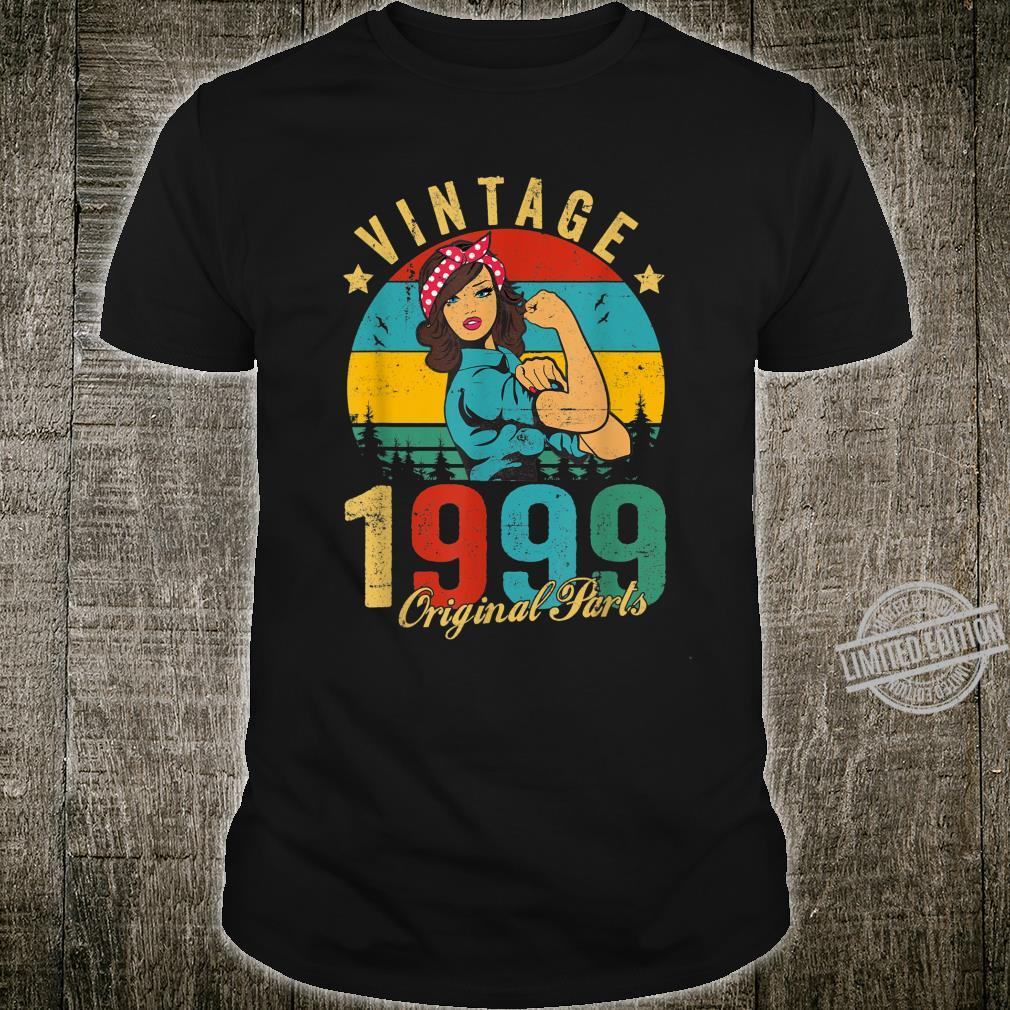 Vintage 1999 Made in 1999 21st Birthday 21 Years Old Shirt