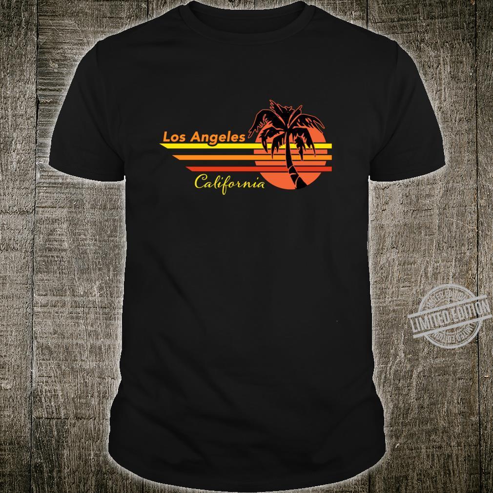 Vintage Los Angeles California Sunset and Palm Tree Souvenir Shirt