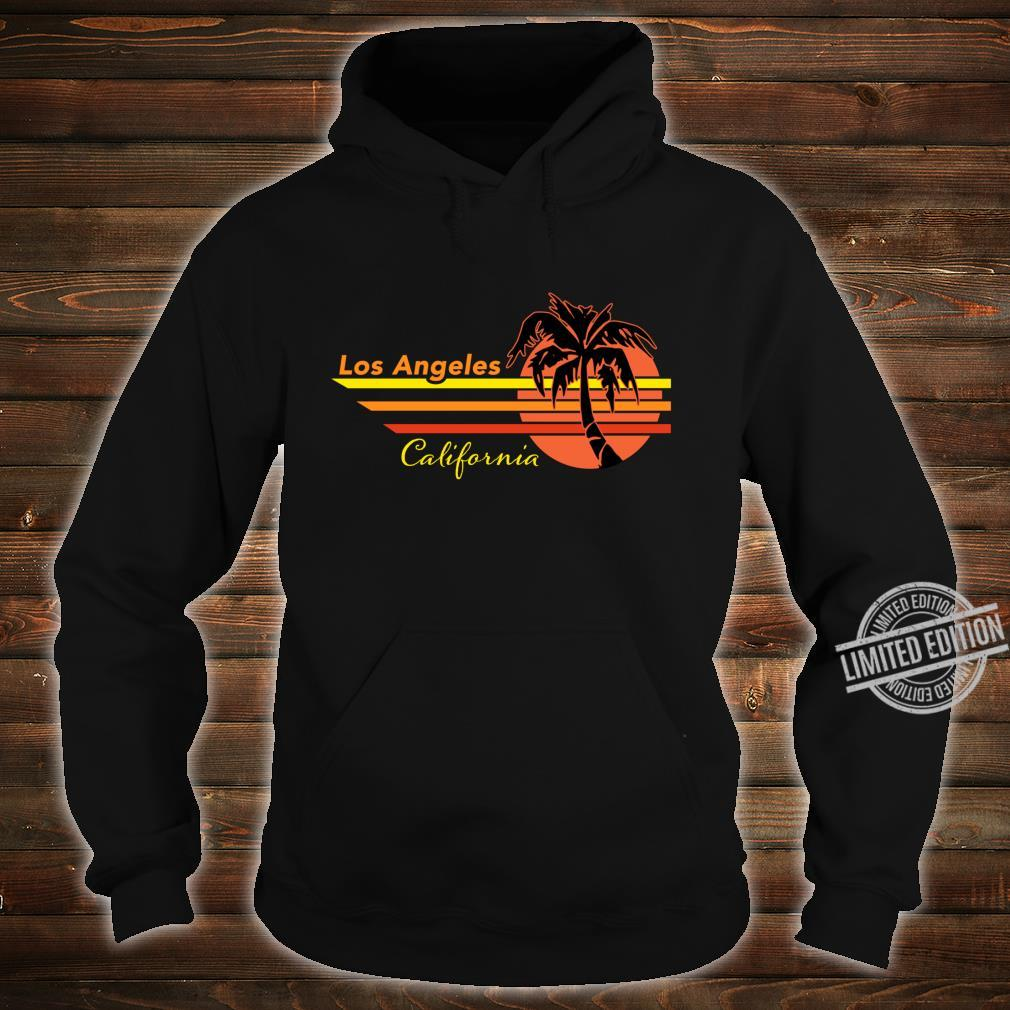 Vintage Los Angeles California Sunset and Palm Tree Souvenir Shirt hoodie