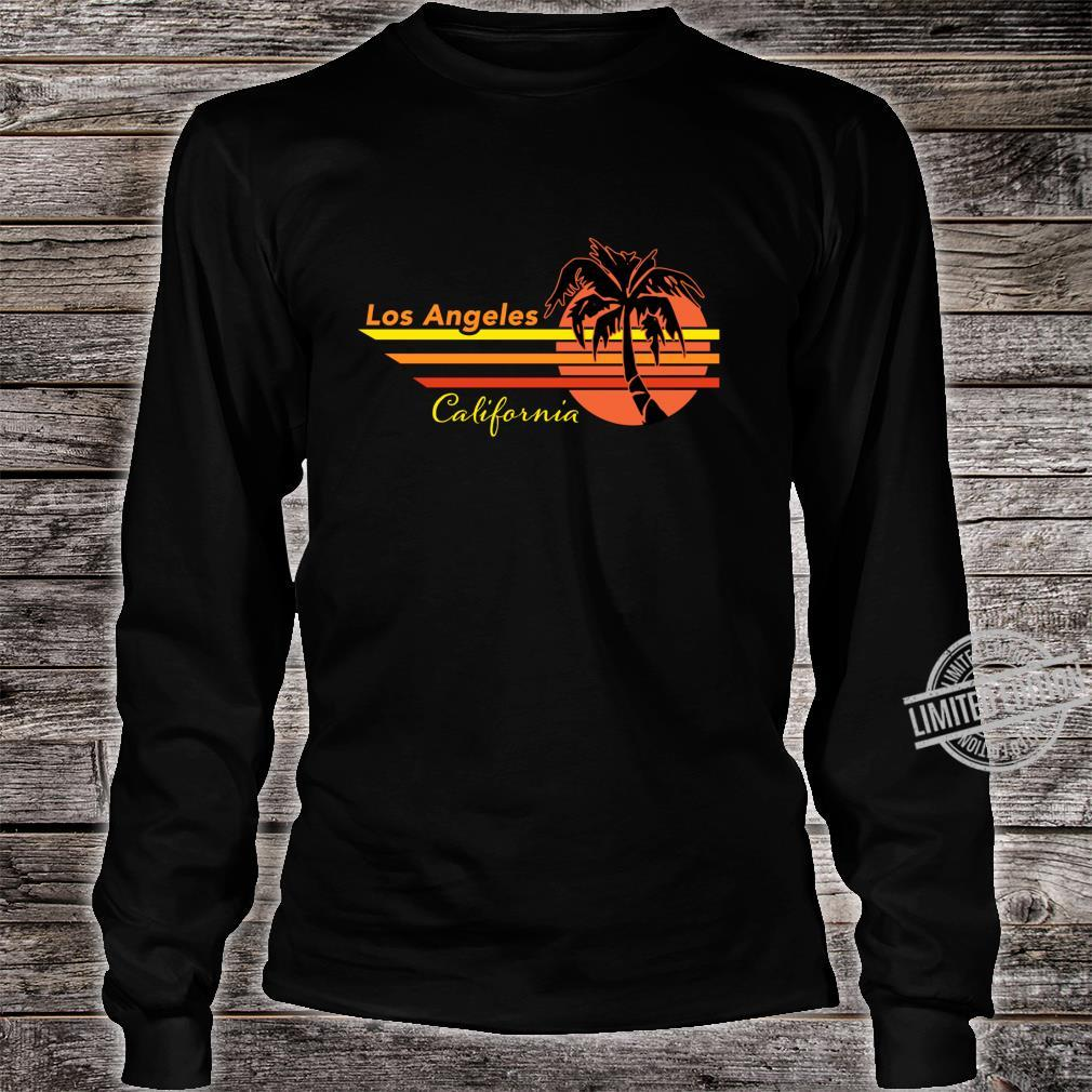 Vintage Los Angeles California Sunset and Palm Tree Souvenir Shirt long sleeved