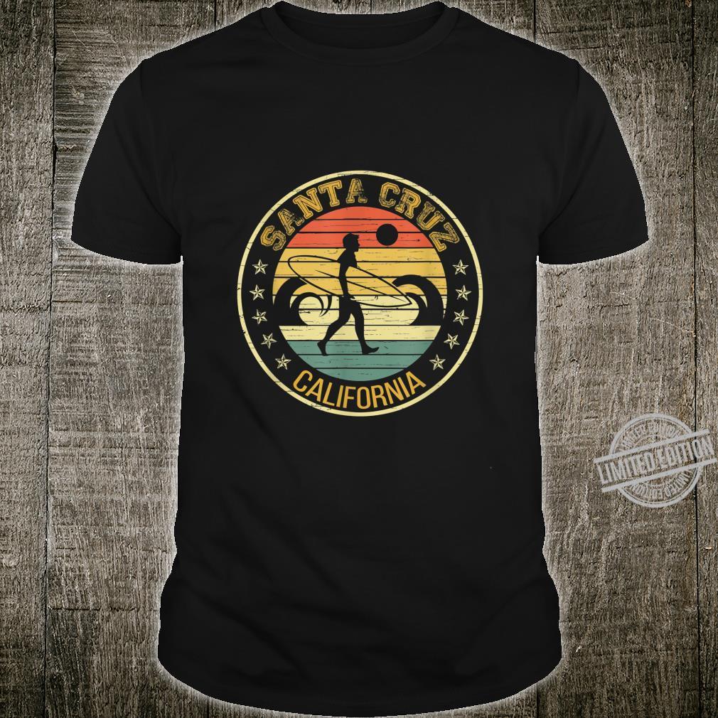 Vintage Santa Cruz Surfing Califonia Sunset Retro Shirt