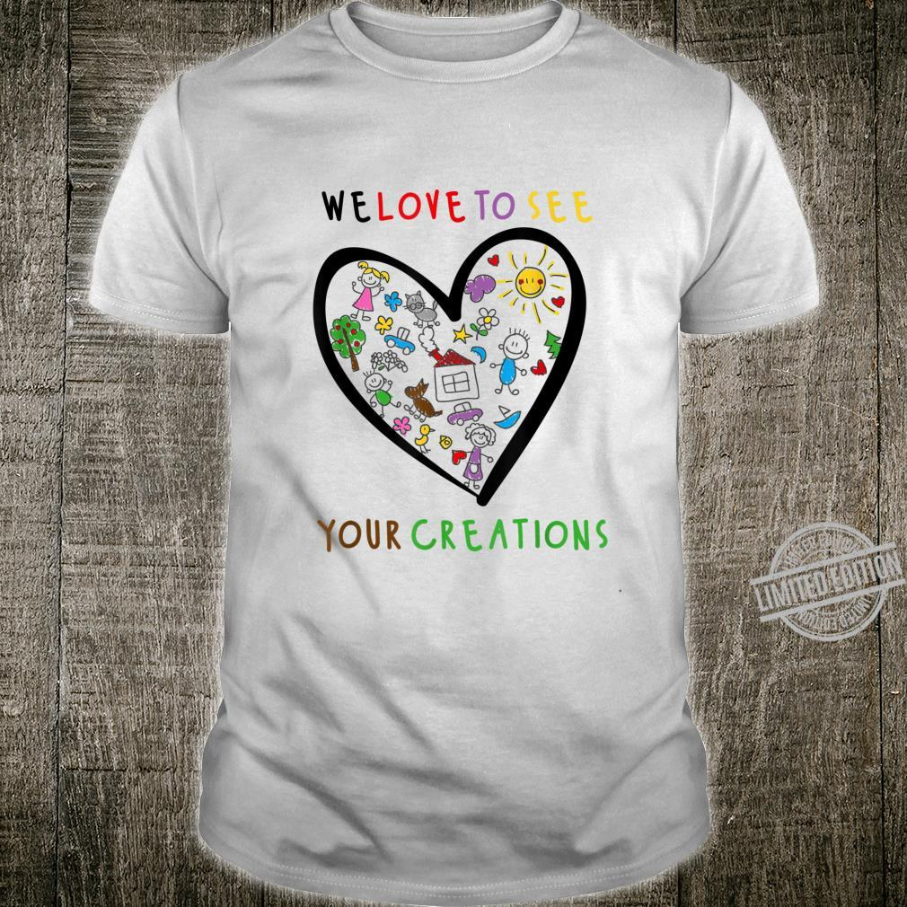 We love to see your creations, Childrens Art Shirt