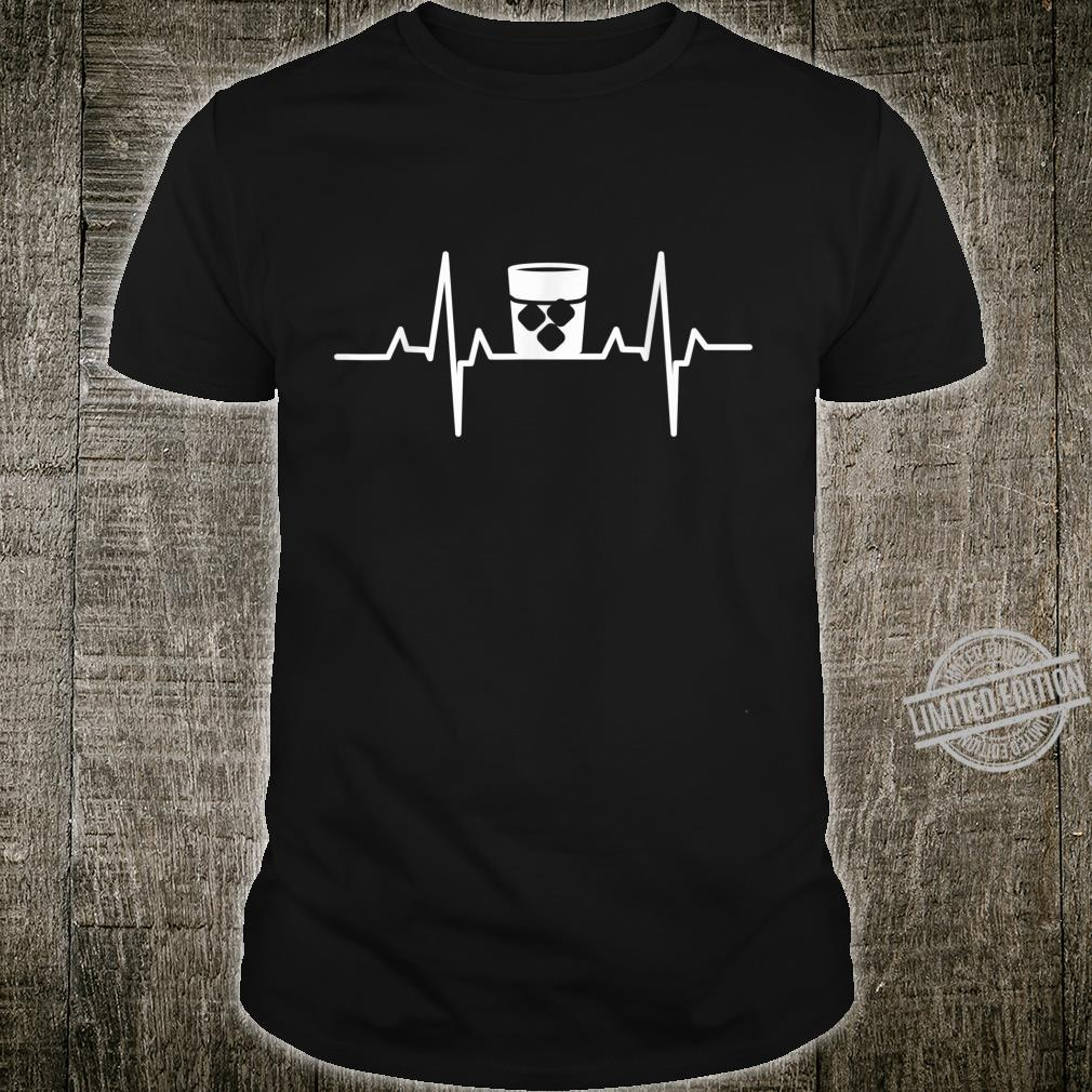 Whiskey Heartbeat Distilled Alcoholic Drink Beverage Whisky Shirt