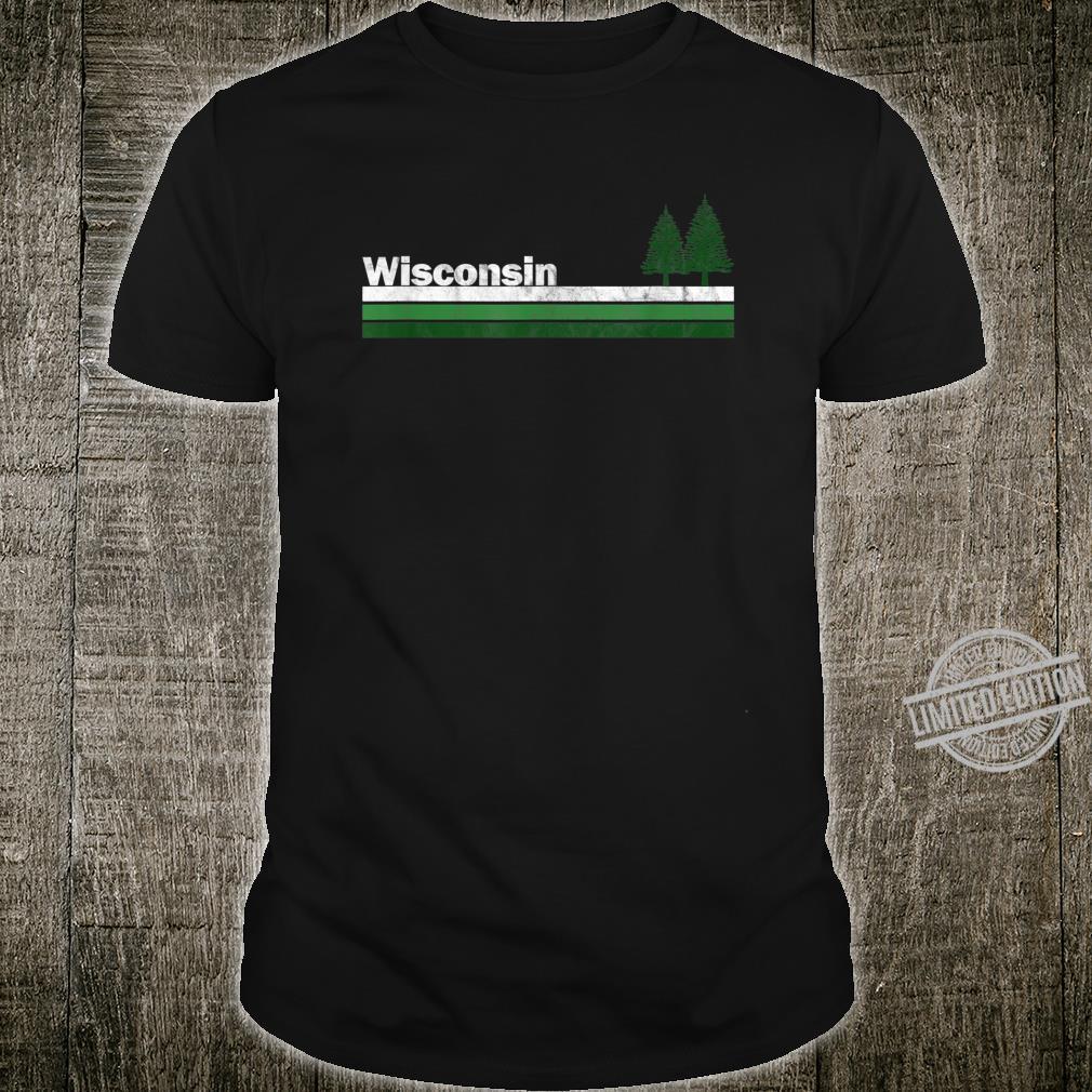 Wisconsin Vintage Retro 70s 80s Pine Tree Shirt