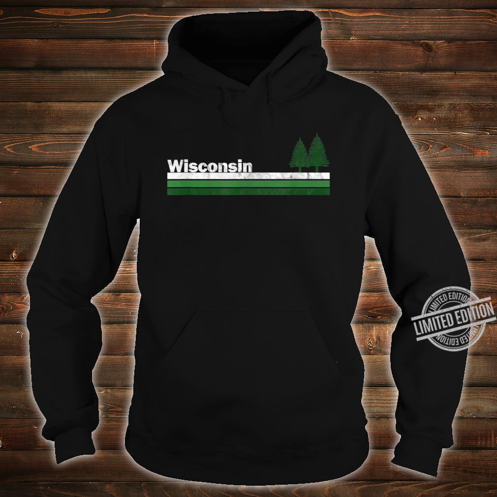 Wisconsin Vintage Retro 70s 80s Pine Tree Shirt hoodie