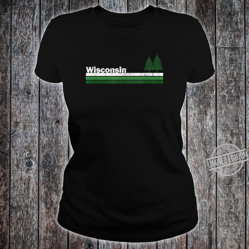 Wisconsin Vintage Retro 70s 80s Pine Tree Shirt ladies tee