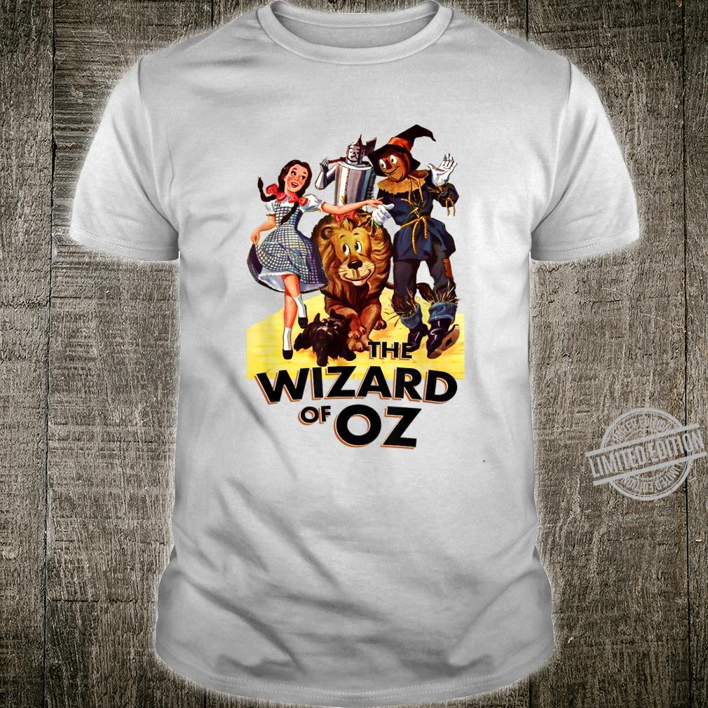 Wizard Of Oz Lion Tin Man Scarecrow Dorothy Vintage Poster Shirt