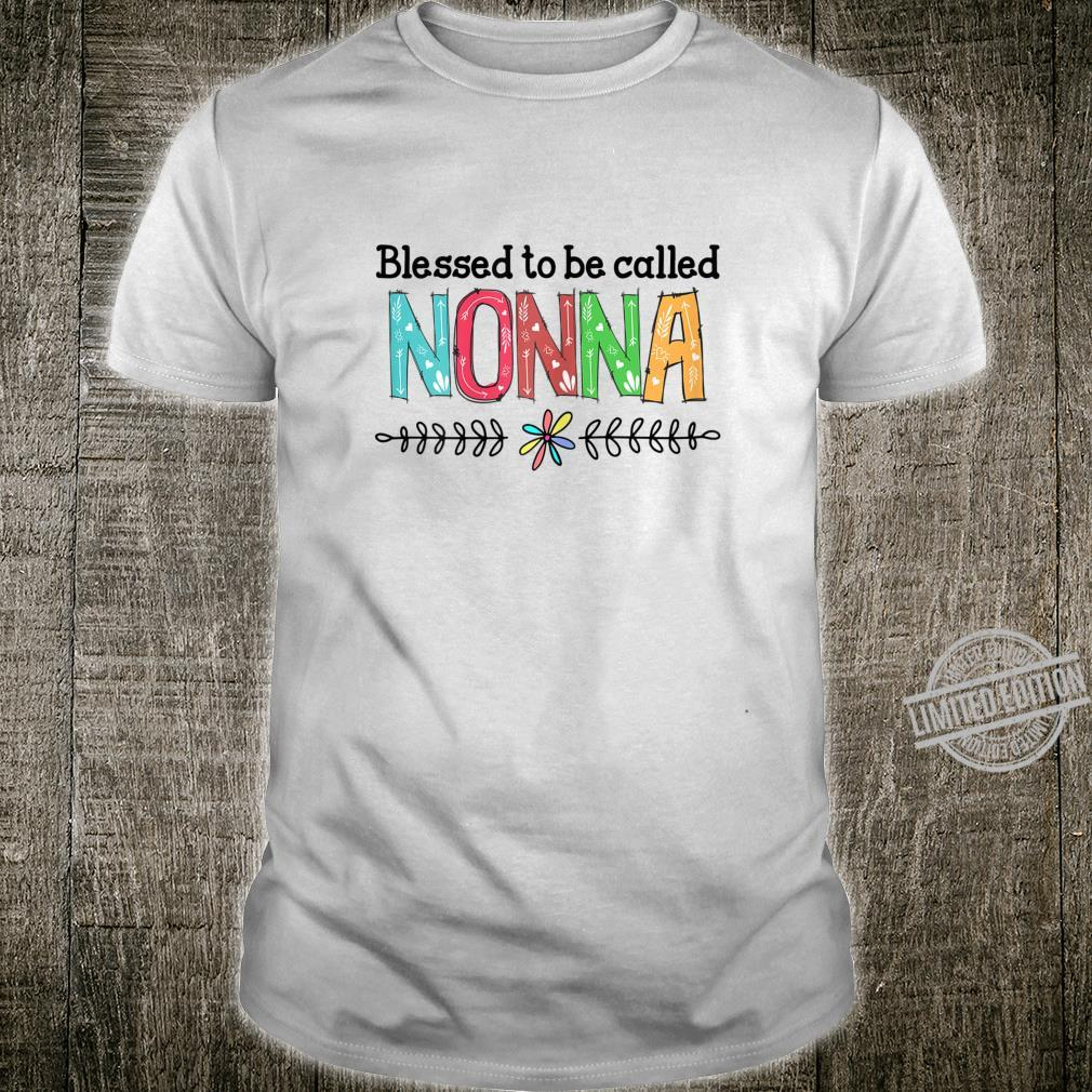 Womens Blessed To Be Nani Nonna Best Nonna Shirt