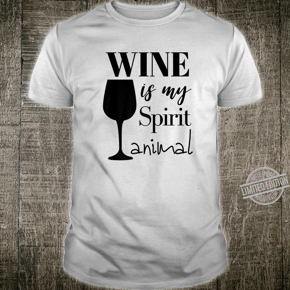 Womens Cute Wine Is My Spirit Animal Shirt