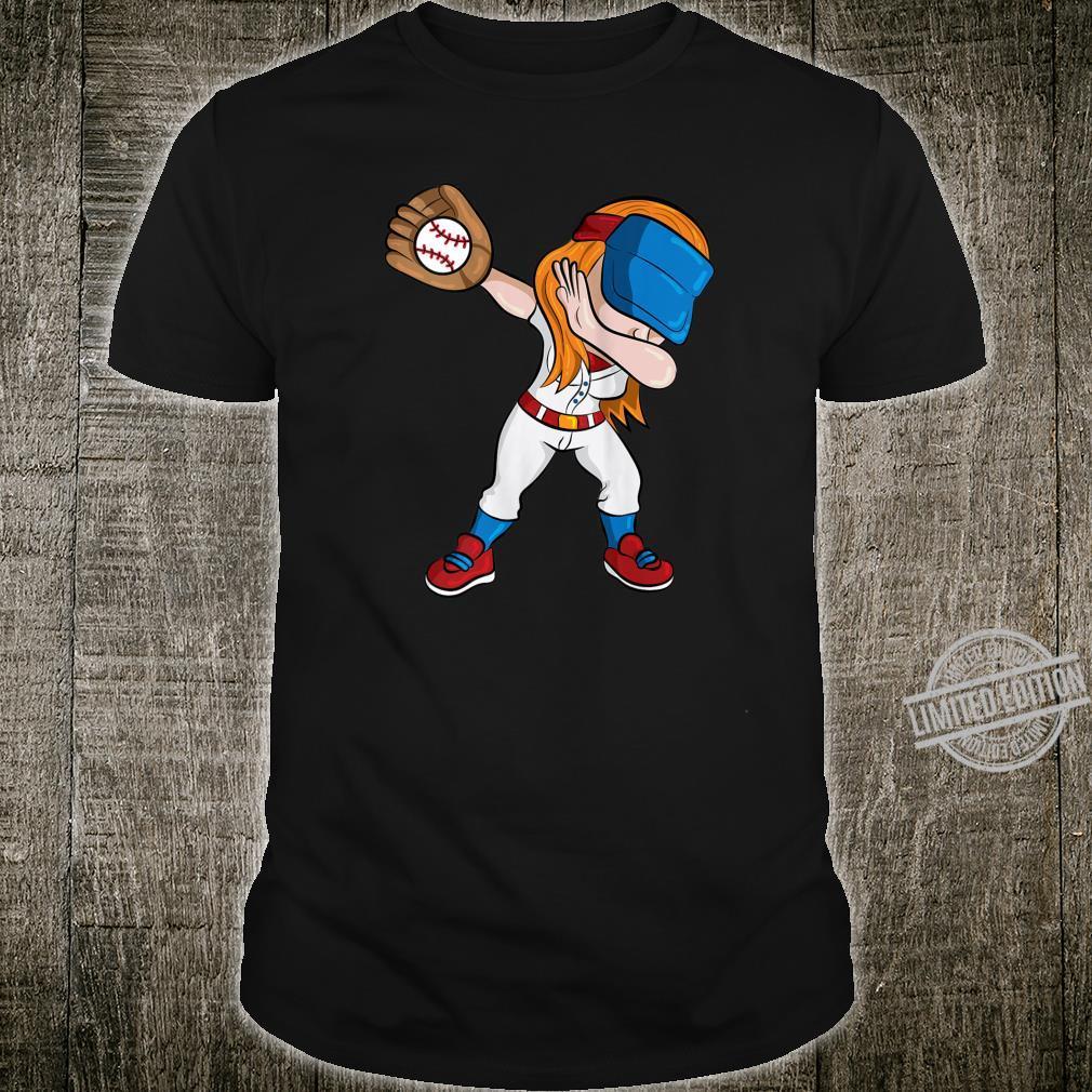Womens Dabbing Softball Girl Shirt