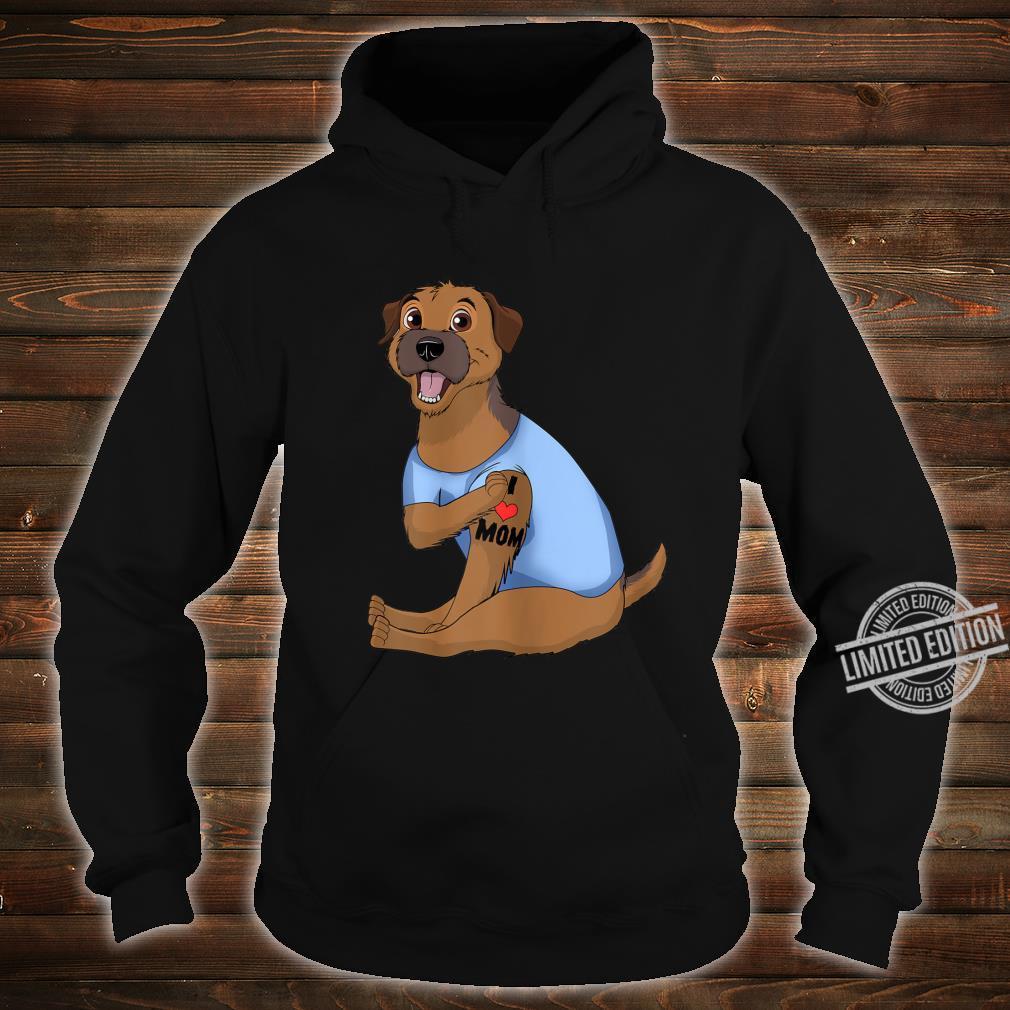Womens Dog Border Terrier Love Mom Tattoo Shirt hoodie
