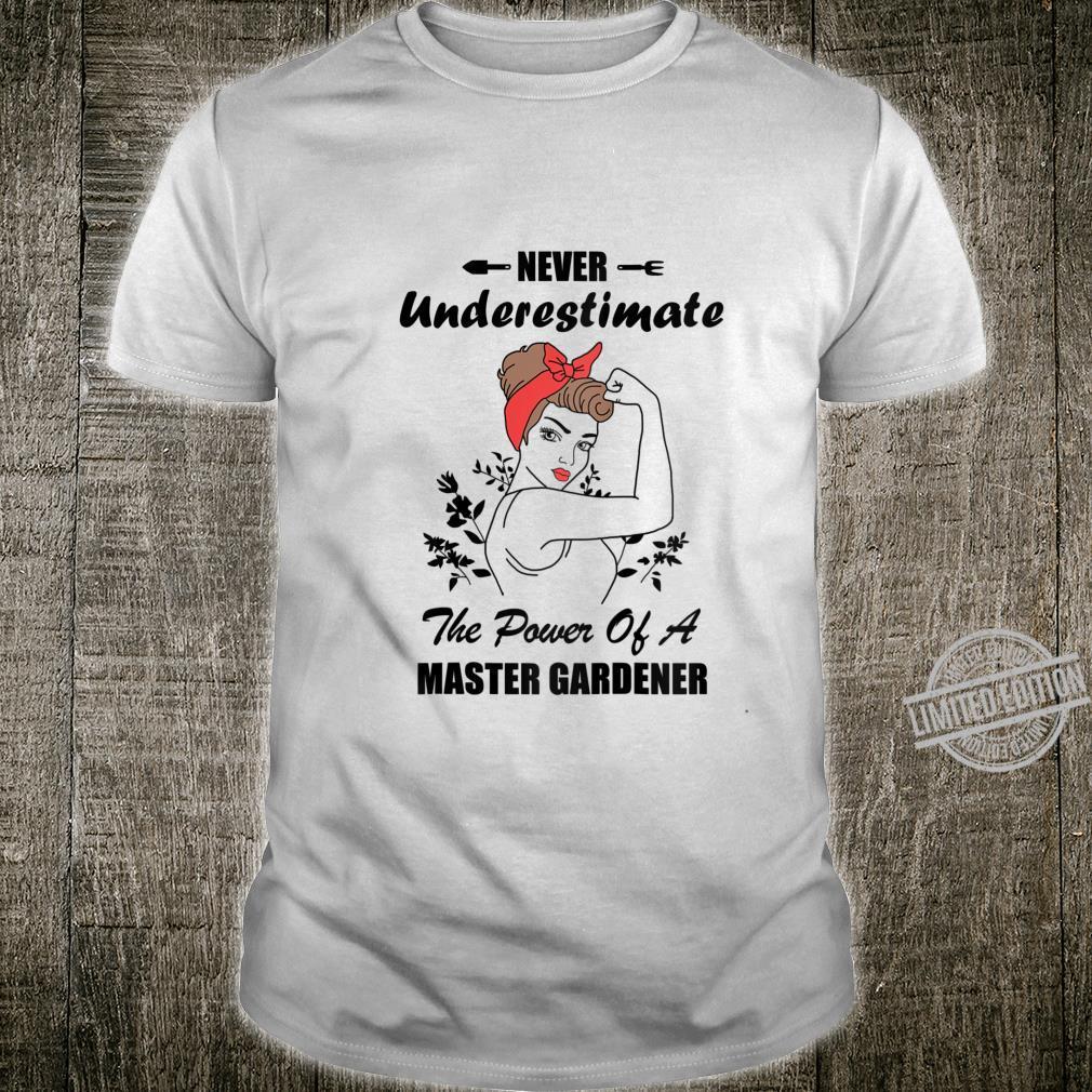 Womens Never Underestimate Gardener Gardening Girl Shirt