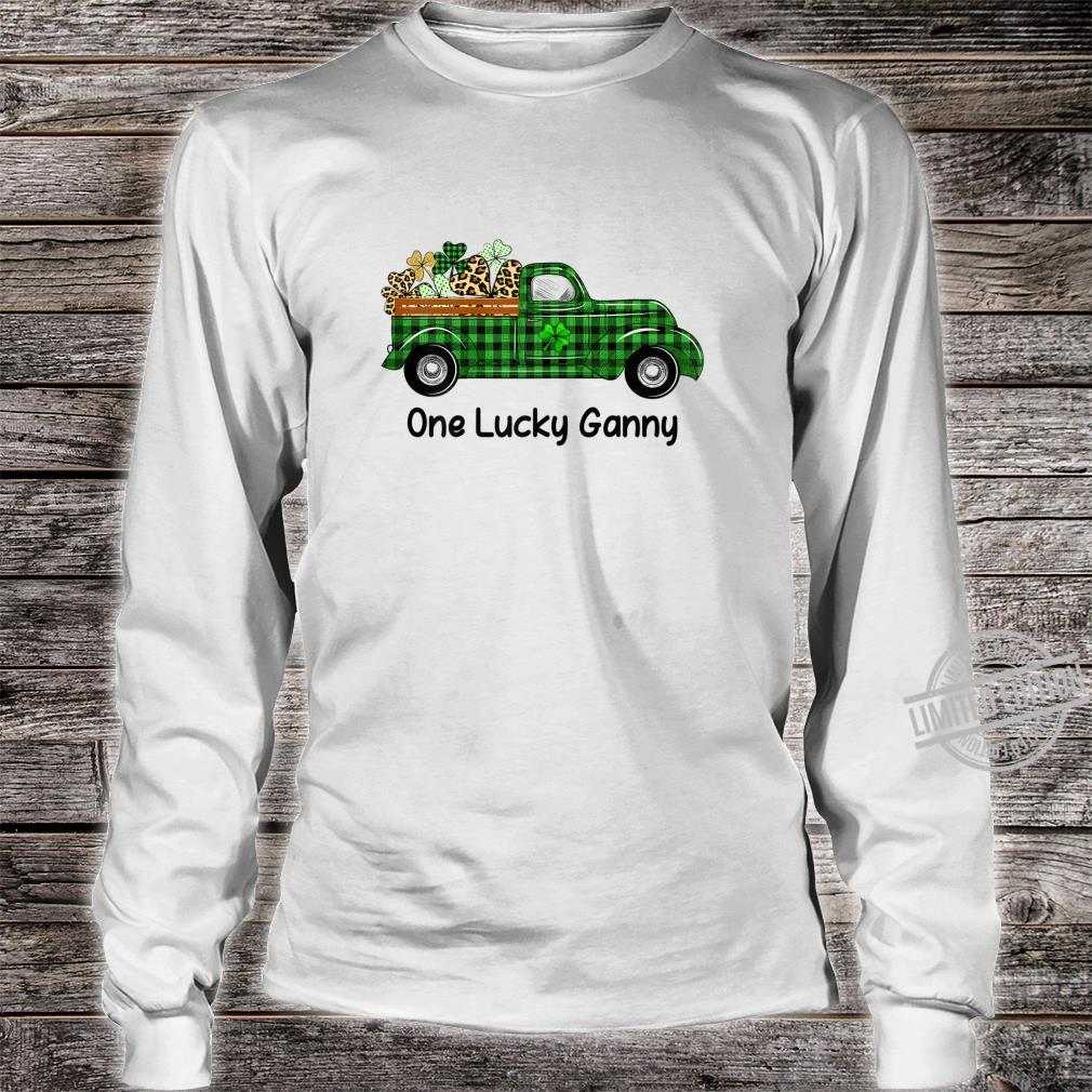 Womens One Lucky Ganny Truck Green Plaid Shamrocks St Patrick's Day Shirt long sleeved