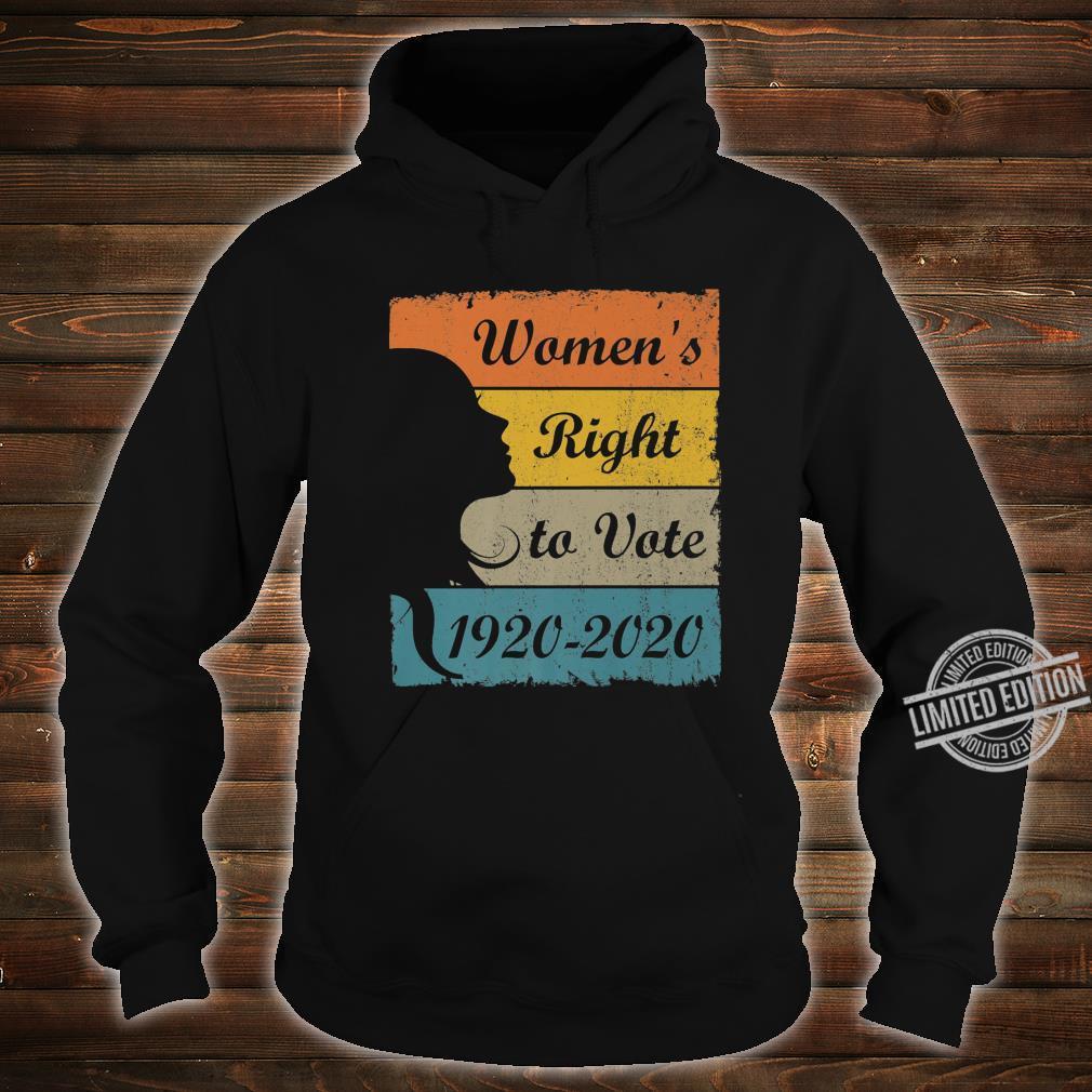 Women's Right To Vote 19202020 Retro Amendment 19 Shirt hoodie