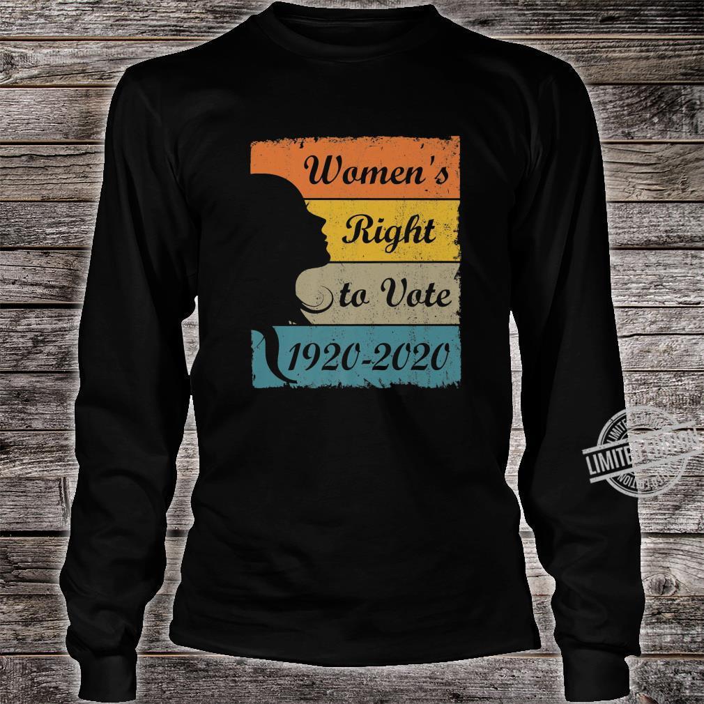 Women's Right To Vote 19202020 Retro Amendment 19 Shirt long sleeved
